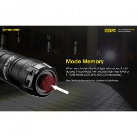 NITECORE New P12 Senter LED CREE XP-L HD V6 1200 Lumens - Black - 8