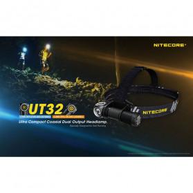 NITECORE UT32 Headlamp Senter Kepala LED Dual Output CREE XH-L2 V6 1100 Lumens - Black - 5
