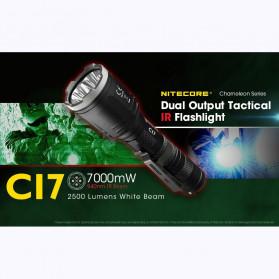 NITECORE CI7 Senter LED Tactical Flashlight With Infrared CREE XP-G3 S3 LED 2500 White Lumens - Black - 3