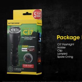 NITECORE CI7 Senter LED Tactical Flashlight With Infrared CREE XP-G3 S3 LED 2500 White Lumens - Black - 6