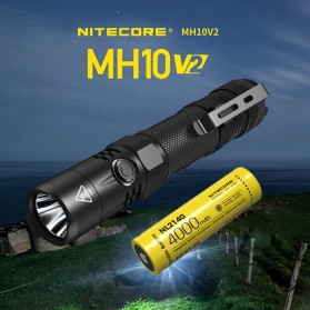 NITECORE MH10 V2 Senter CREE XP L2 V6 LED 1200 Lumens - Black