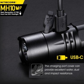 NITECORE MH10 V2 Senter CREE XP L2 V6 LED 1200 Lumens - Black - 4