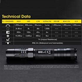 NITECORE MH10 V2 Senter CREE XP L2 V6 LED 1200 Lumens - Black - 5
