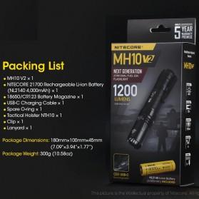 NITECORE MH10 V2 Senter CREE XP L2 V6 LED 1200 Lumens - Black - 6