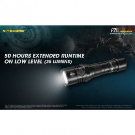 NITECORE P20i Senter LED Tactical Flashlight SST-40-W 1800 Lumens - Black - 10
