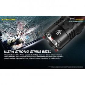 NITECORE P20i Senter LED Tactical Flashlight SST-40-W 1800 Lumens - Black - 7