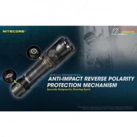 NITECORE P20i Senter LED Tactical Flashlight SST-40-W 1800 Lumens - Black - 8