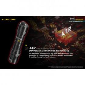 NITECORE P20i Senter LED Tactical Flashlight SST-40-W 1800 Lumens - Black - 9