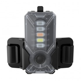 NITECORE NU07 LE Lampu Sinyal LED Mini Headlamp USB Rechargeable 15 Lumens - Black
