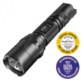 NITECORE P20UV Senter LED with UV Light CREE XM-L2 T6 800 Lumens - Black