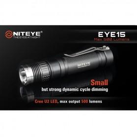 Niteye EYE15 Senter LED CREE XM-L U2 500 Lumens - Black