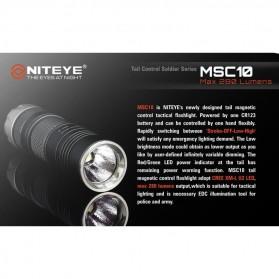 Niteye MSC10 Senter Military LED CREE XM-L U2 280 Lumens - Black - 2