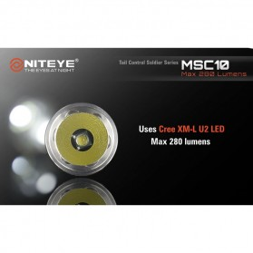 Niteye MSC10 Senter Military LED CREE XM-L U2 280 Lumens - Black - 3