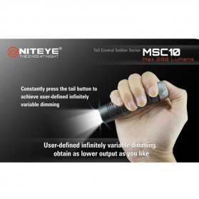 Niteye MSC10 Senter Military LED CREE XM-L U2 280 Lumens - Black - 5