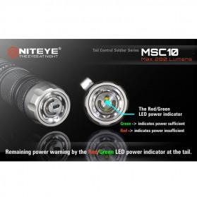 Niteye MSC10 Senter Military LED CREE XM-L U2 280 Lumens - Black - 6