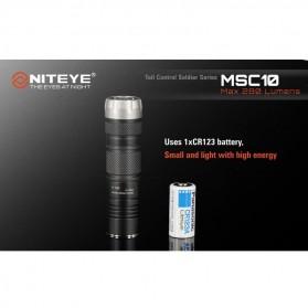 Niteye MSC10 Senter Military LED CREE XM-L U2 280 Lumens - Black - 7