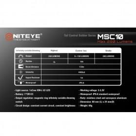 Niteye MSC10 Senter Military LED CREE XM-L U2 280 Lumens - Black - 9