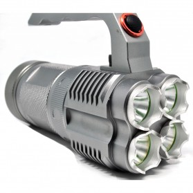 UltraFire UF-T90 Senter with 4 LED CREE XM-LU2 2000 Lumens - Silver