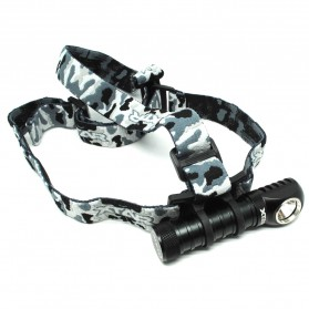Xtar H3 Warboy Headlamp Senter LED CREE XM-L2 U3 1000 Lumens - Gray