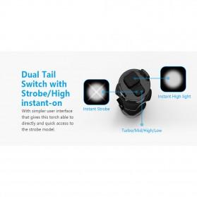 Xtar TZ28 Senter LED CREE XHP35 HI/D4 1500 Lumens - Black - 7