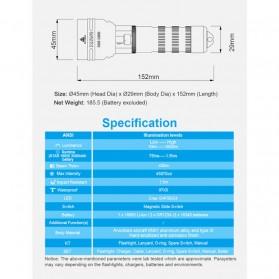 Xtar D06 Diving Waterproof Senter LED CREE XHP35 1600 Lumens - Black - 4