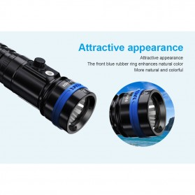 Xtar D26 Diving Waterproof Senter LED CREE XHP35-HI D4 1600 Lumens - Black - 7