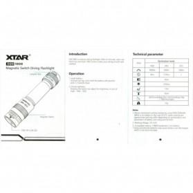 Xtar D20 Diving Waterproof Senter LED Cree XP-L V6 1000 Lumens - Black - 6