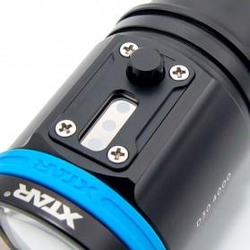 Xtar D30 Diving Waterproof Senter LED 4000 Lumens - Black - 7