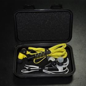 Knowledge Zenith Hardcase Pelican Box Kotak Penyimpanan Earphone without Logo - BD1713 - Black - 5