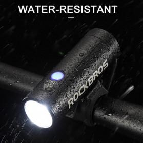 Rockbros Lampu Sepeda USB Rechargeable 2000mAh 400 Lumens - R1-400 - Black - 2