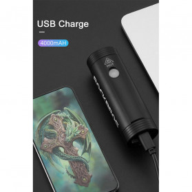 Rockbros Lampu Sepeda USB Rechargeable 2000mAh 400 Lumens - R1-400 - Black - 6