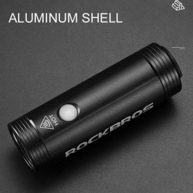 Rockbros Lampu Sepeda USB Rechargeable 2000mAh 400 Lumens - R1-400 - Black - 7