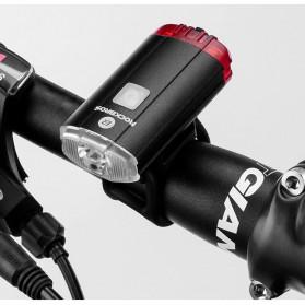 Rockbros Lampu Sepeda Depan & Belakang USB Rechargeable 100 Lumens - YQ-TD100LM - Black - 10