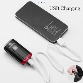 Rockbros Lampu Sepeda Depan & Belakang USB Rechargeable 100 Lumens - YQ-TD100LM - Black - 4