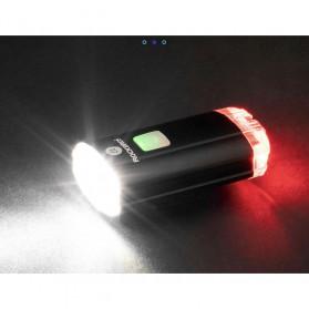 Rockbros Lampu Sepeda Depan & Belakang USB Rechargeable 100 Lumens - YQ-TD100LM - Black - 7