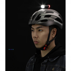 Rockbros Lampu Sepeda Depan & Belakang USB Rechargeable 100 Lumens - YQ-TD100LM - Black - 8