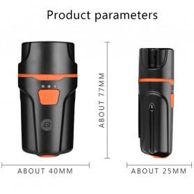Rockbros Lampu Sepeda USB Rechargeable 2000mAh 300 Lumens - HL1704 - Black - 7
