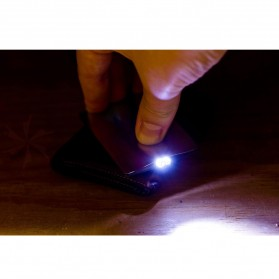 Sinclair Credit Card Size LED Flashlight - Black - 4
