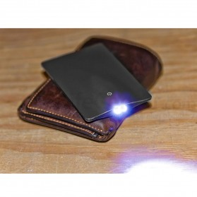 Sinclair Credit Card Size LED Flashlight - Black - 5
