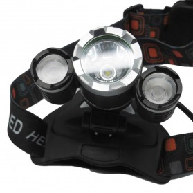 TaffLED Power Headlamp 3 LED 5000 Lumens Cree XM-L - T6 HD-LD - Black - 2