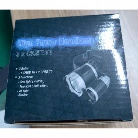 TaffLED Power Headlamp 3 LED 5000 Lumens Cree XM-L - T6 HD-LD - Black - 7