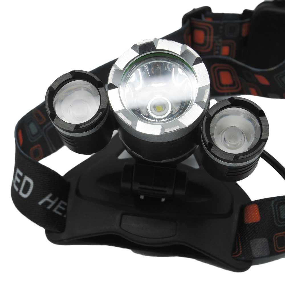T6 High Power Headlamp Cree Xm L 5000 Lumens Black Senter Lampu Flashlight Paket Hemat 2