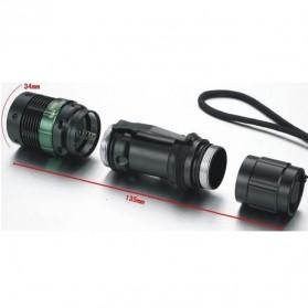 TaffLED Senter LED Mini XPE 320 Lumens - W-36 - Black - 2