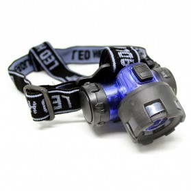 QINGDA Glare Miner V3 High Power Headlamp Cree 3W - YU-017 - Black - 3