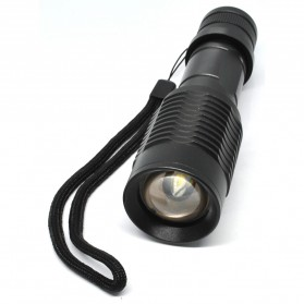 TaffLED Senter LED Flashlight Zoomable Waterproof - PD35 - Black - 6