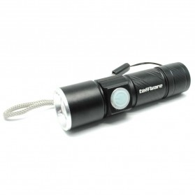 TaffLED Senter LED Mini USB Rechargeable Q5 LED 2000 Lumens - Black