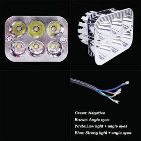 Lampu Motor Bentuk Kotak 6 LED 6W - QM3471 - Silver