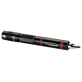 TaffLED Senter LED Tactical Pen XPE Q5 1000 Lumens - BK02 - Black