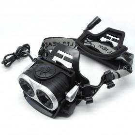 AloneFire HP20 Headlamp Senter LED 2X CREE XM-L T6 8000 Lumens - Black
