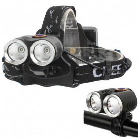 TaffLED Senter Headlamp LED CREE XPE T6 800 Lumens - R2 - Black - 2